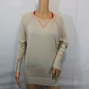 Ruby Moon Size Large Faux Button Look Thin Thermal